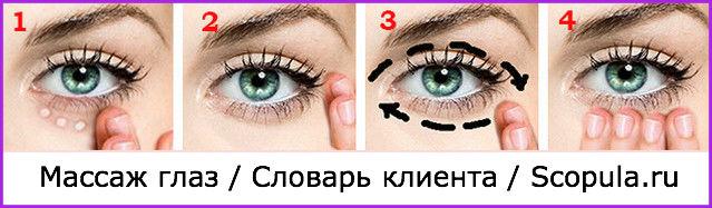 как делать массаж глаз